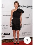 Natalie Portman - skór og kjóll frá Lanvin fyrir H&M og Dior-veski