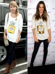 Taylor Swift vs. Alessandra Ambrosio í Wildfox Couture